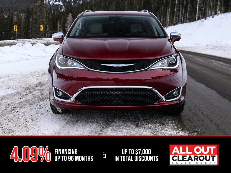 2019 Chrysler Pacifica - All Out Clearout Sales Event