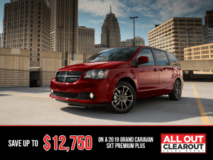 2019 Grand Caravan SXT Premium Plus- All Out Clearout Sales Event