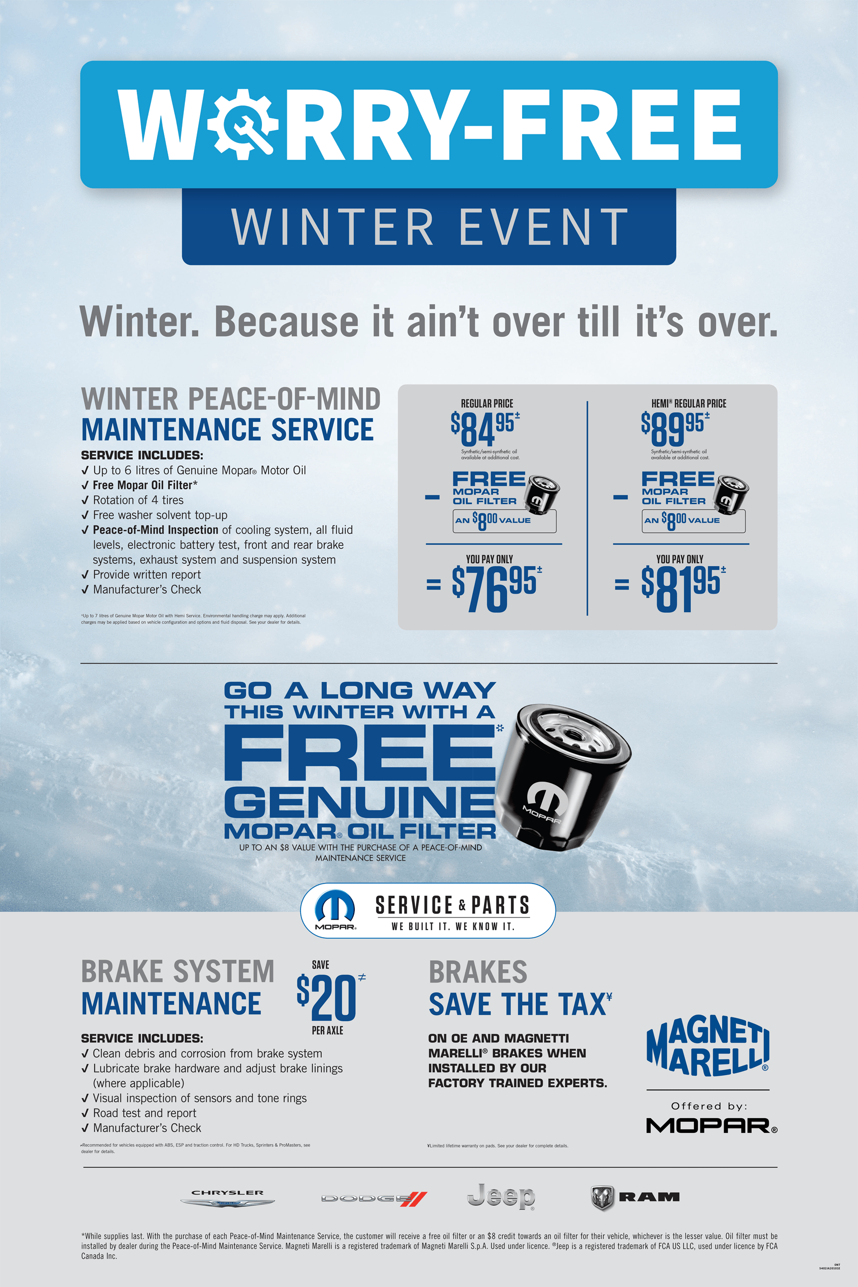 Worry Free Winter Event @ Forest City Dodge