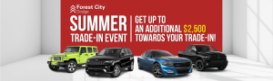 Summer Trade-In Event @ Forest City Dodge